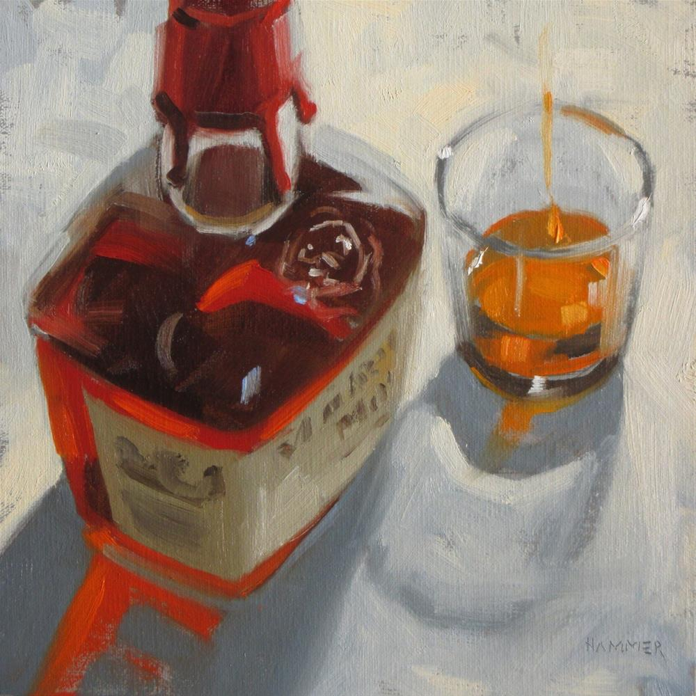 """One finger of Maker's  8 x 8  oil"" original fine art by Claudia Hammer"