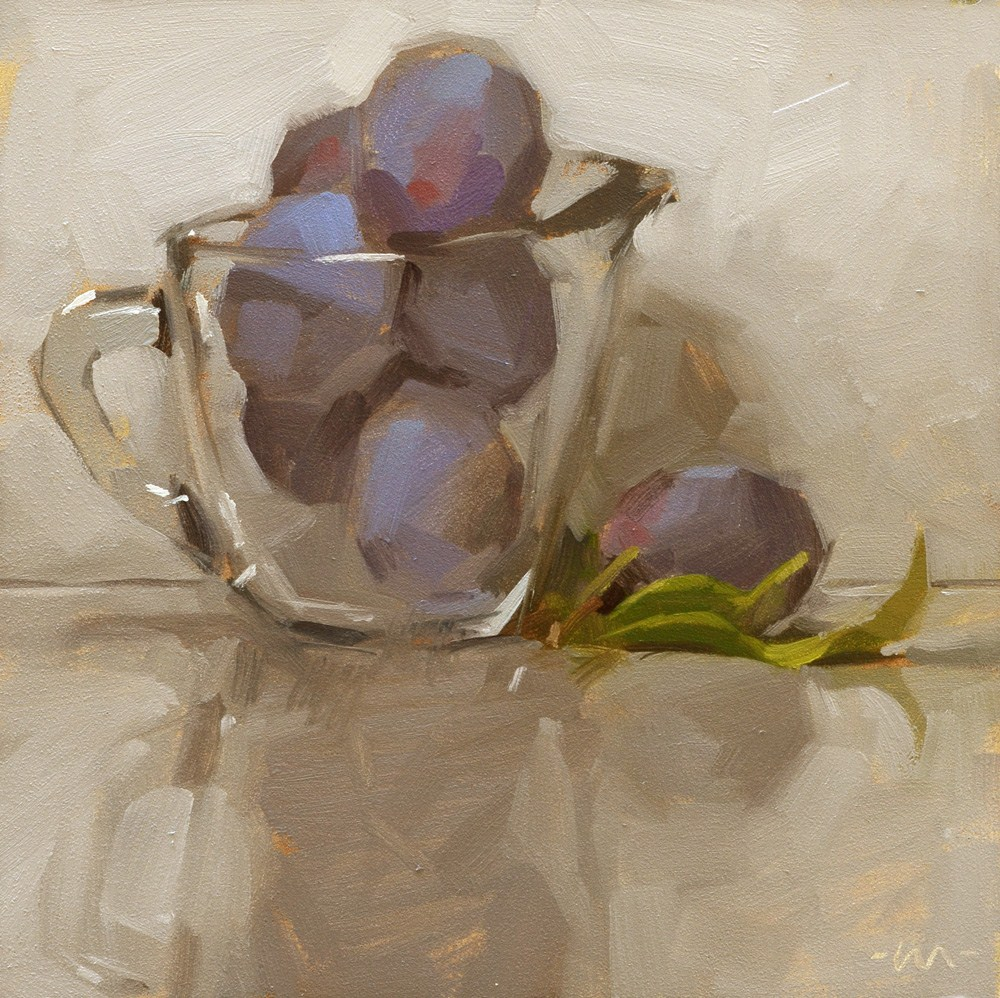 """Prune Plums"" original fine art by Carol Marine"