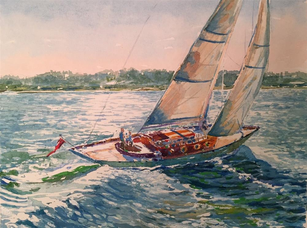 """""""Sailing"""" original fine art by Laurie Maher"""