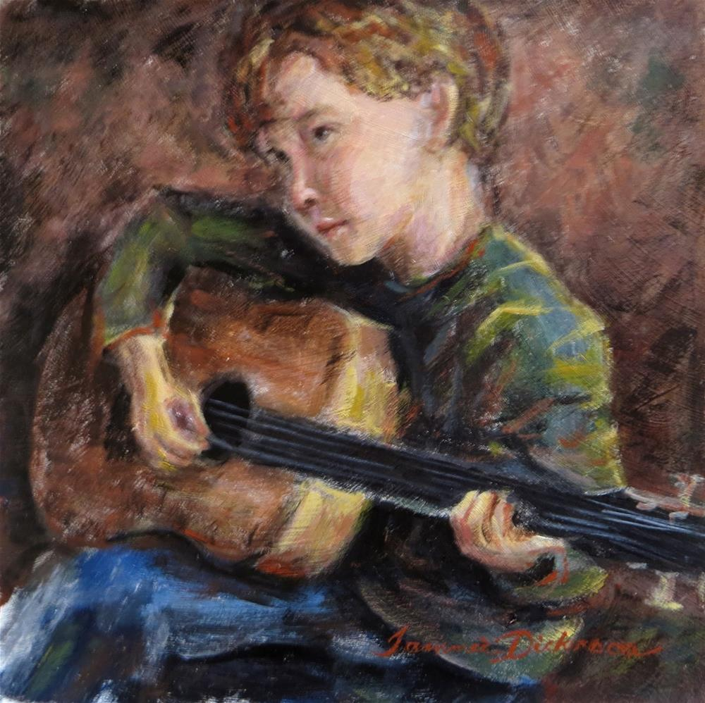 """Alan and Guitar"" original fine art by Tammie Dickerson"