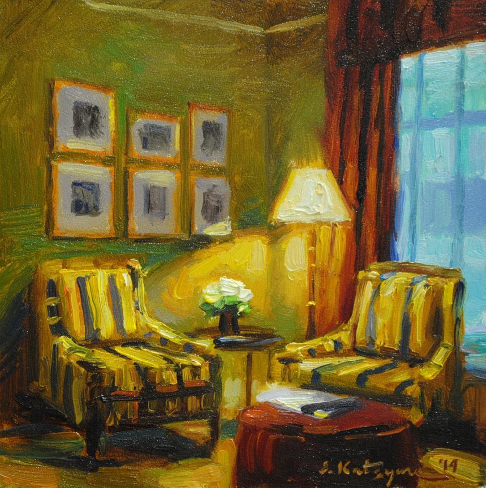 """Living Room"" original fine art by Elena Katsyura"