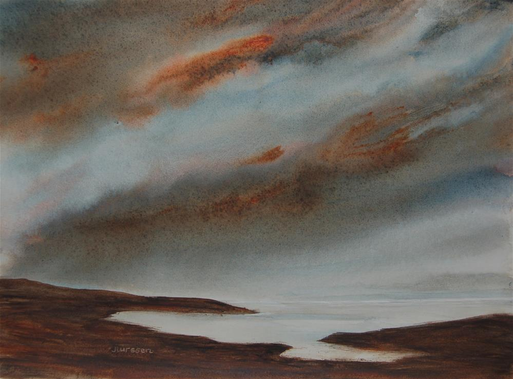 """Brooding Sky"" original fine art by Jean Lurssen"
