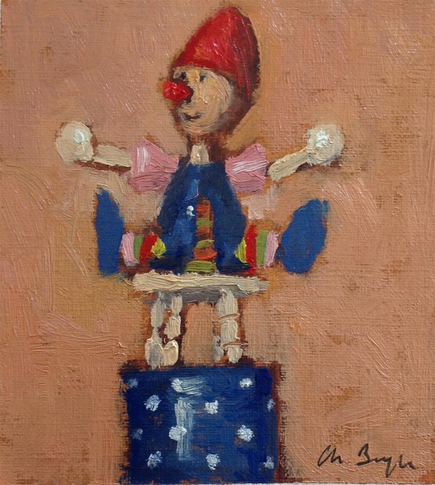"""Wooden toy #2"" original fine art by Christine Bayle"