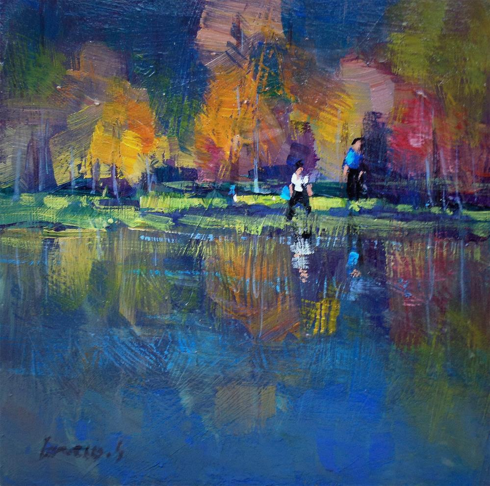 """In the pond"" original fine art by salvatore greco"