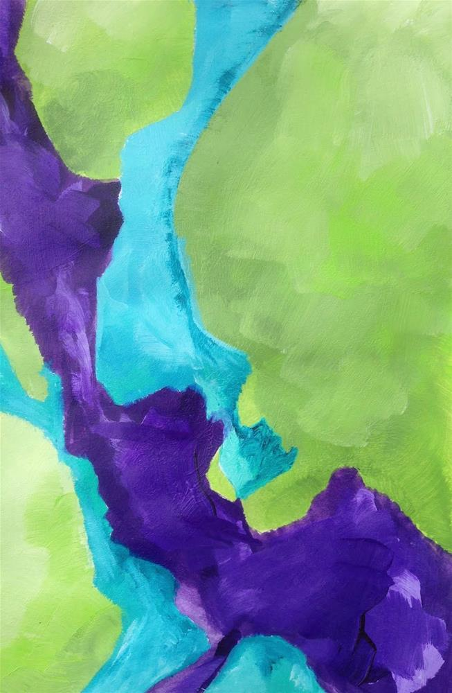 """COLOR, Day 3"" original fine art by Dotty  Seiter"