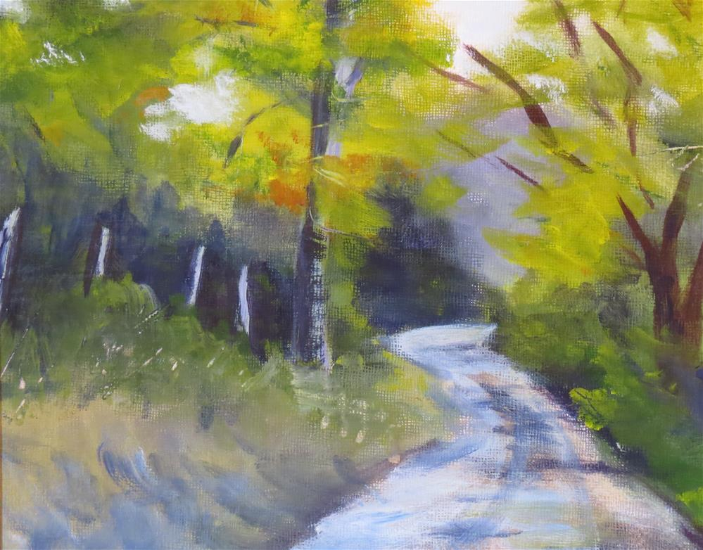 """Country Road"" original fine art by Sandra Cameron"