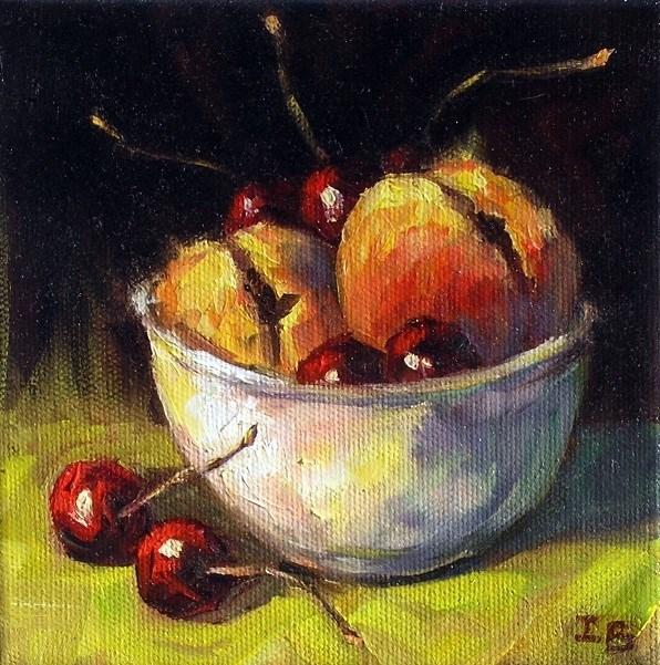 """Fruit Bowl"" original fine art by Irina Beskina"