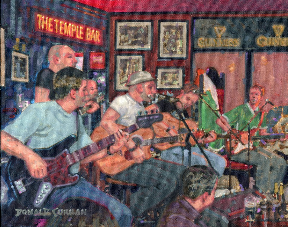 """Dublin Pub"" original fine art by Donald Curran"