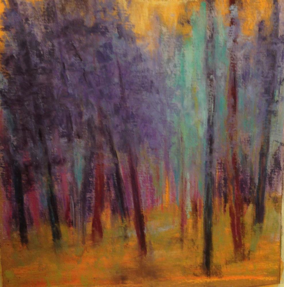 """Abstract Trees"" original fine art by Angeli Petrocco Coover"