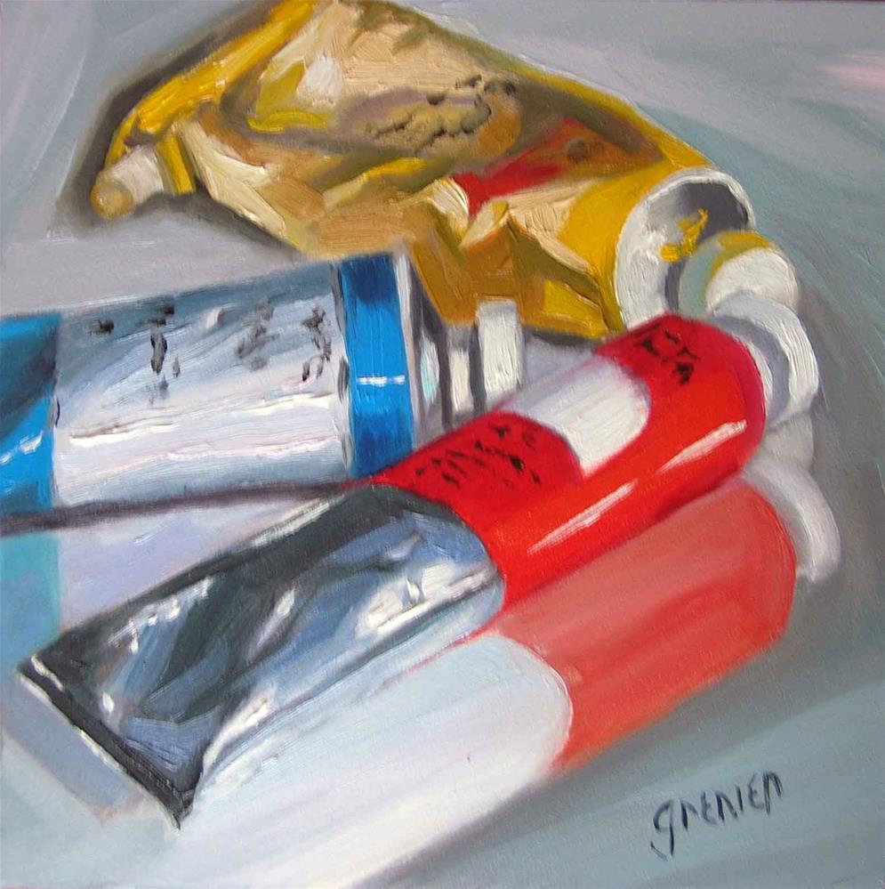 """Paint Tubes"" original fine art by jean grenier"