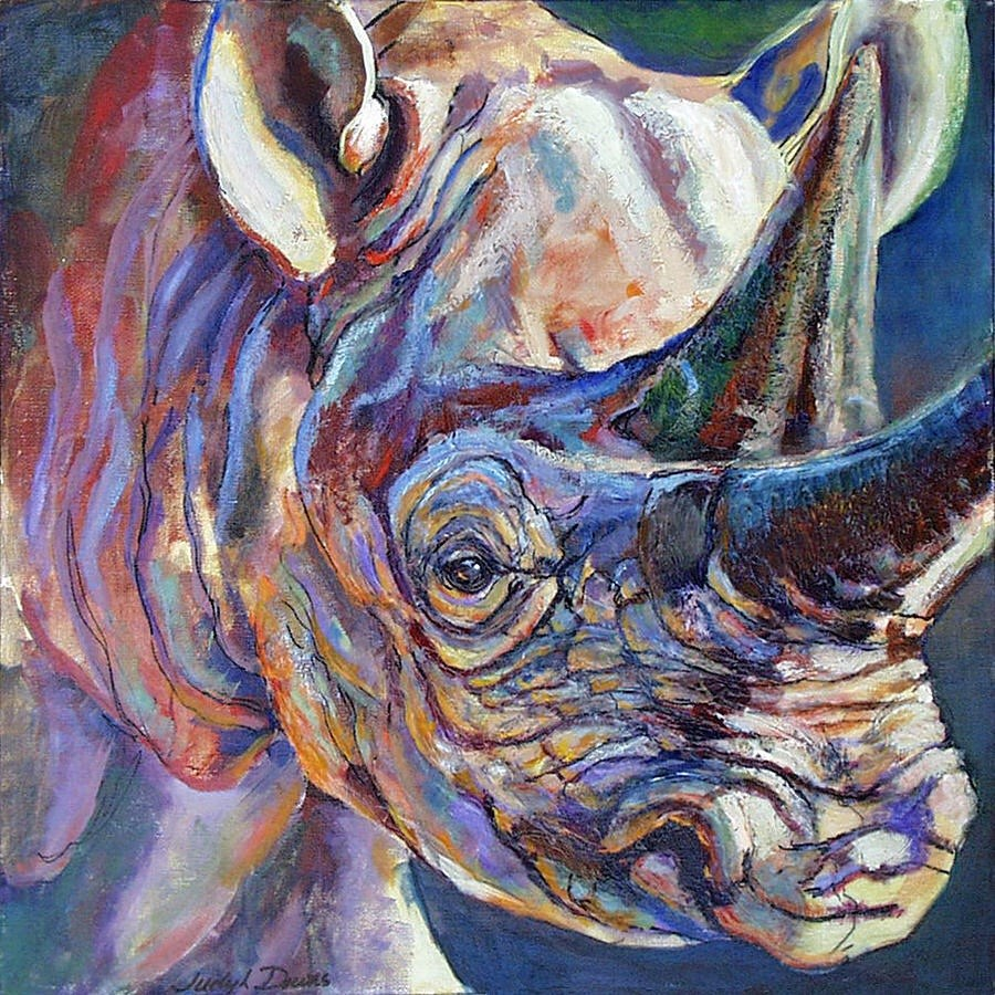 """Lucy of Ngorongoro"" original fine art by Judy Downs"