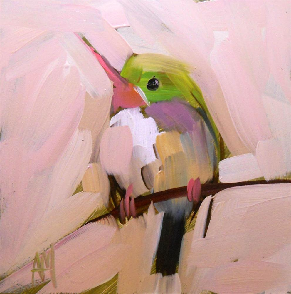 """tody bird no. 5"" original fine art by Angela Moulton"