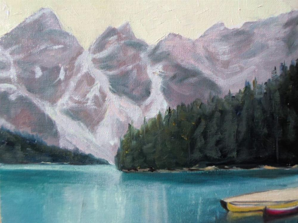 """8 x 10 inch Lake Louise, Alberta"" original fine art by Linda Yurgensen"