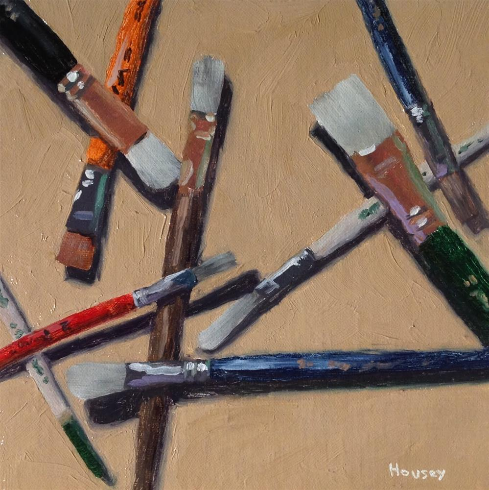 """Brushes"" original fine art by Bruce Housey"