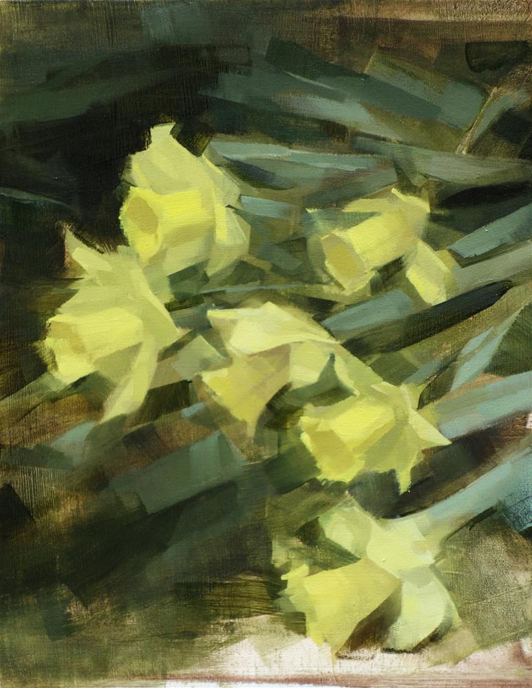 """Daffodil Hill, Brooklyn Botanic Gardens (no.107)"" original fine art by Michael William"