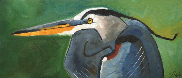 """Great Blue Heron"" original fine art by Elizabeth See"