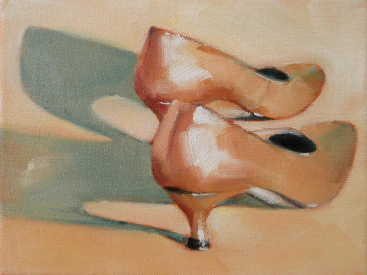 """Dancing Shoes"" original fine art by Cheryl Wilson"