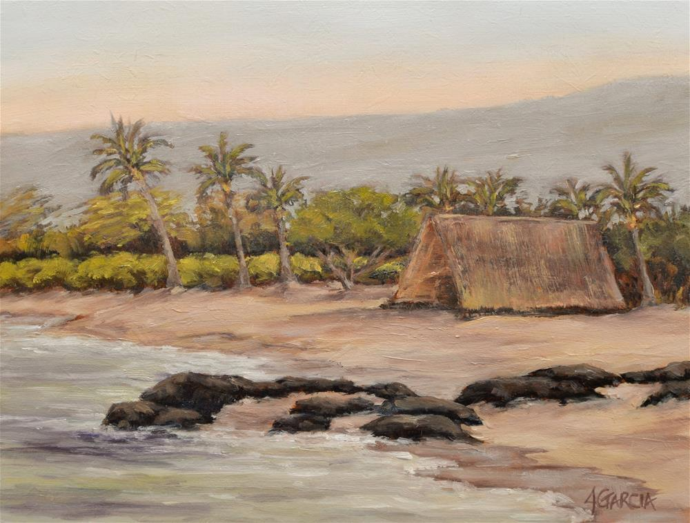 """Honokohau Canoe House"" original fine art by Jeannie Garcia"