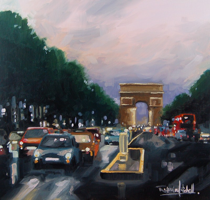 """No 428 Evening in Paris"" original fine art by Robin J Mitchell"