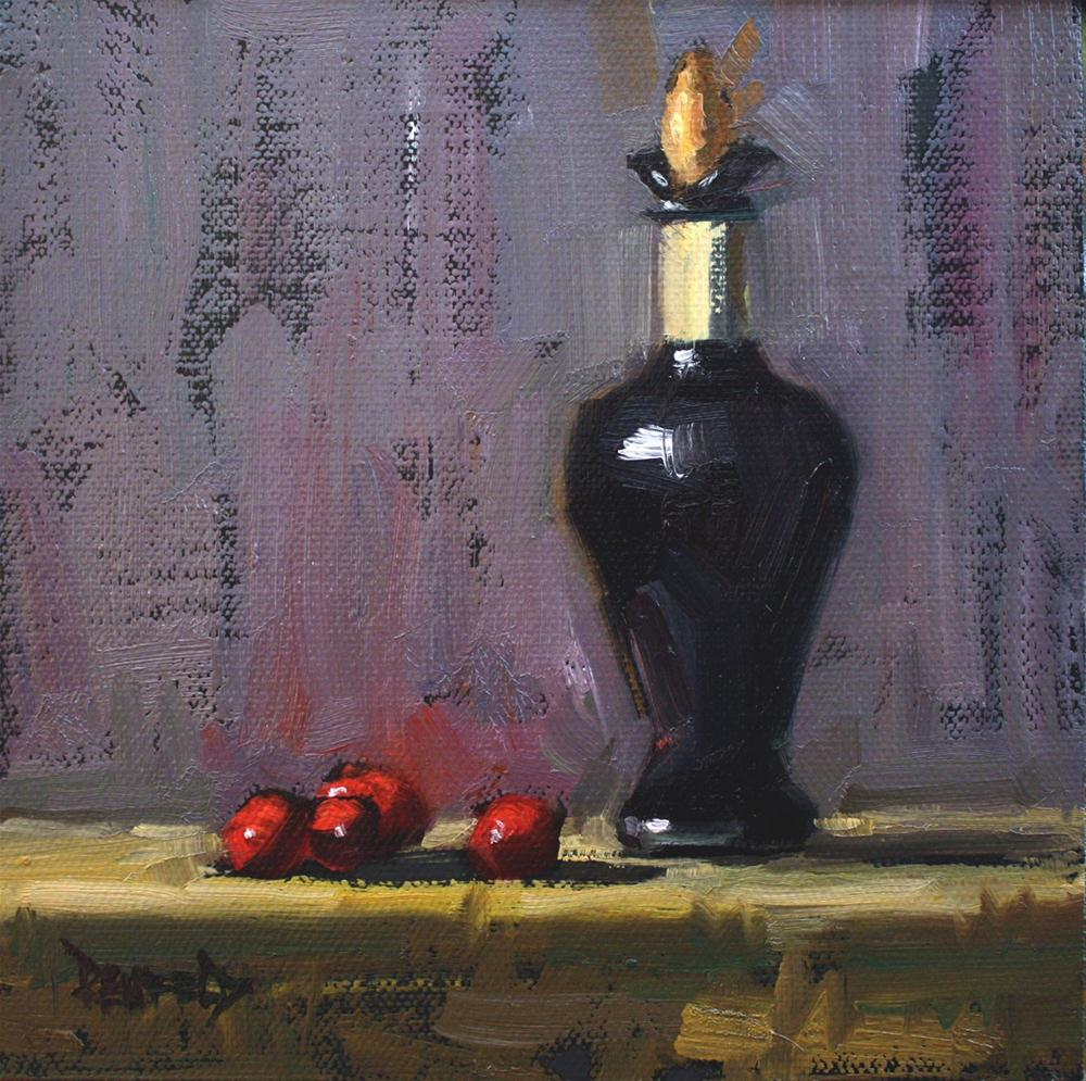 """Cranberries and Balsamic"" original fine art by Cathleen Rehfeld"