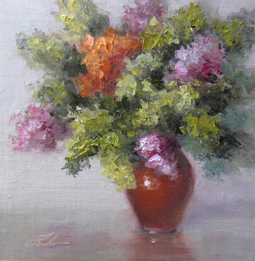 """""""Fall Hydrangeas"""" original fine art by Pat Fiorello"""