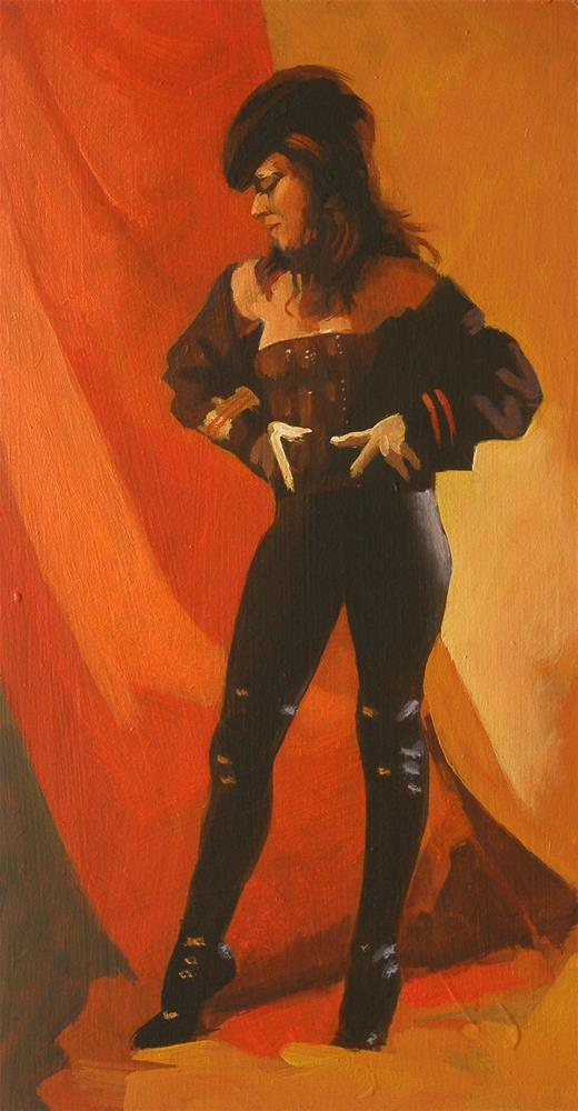 """Costume pose"" original fine art by Peter Orrock"
