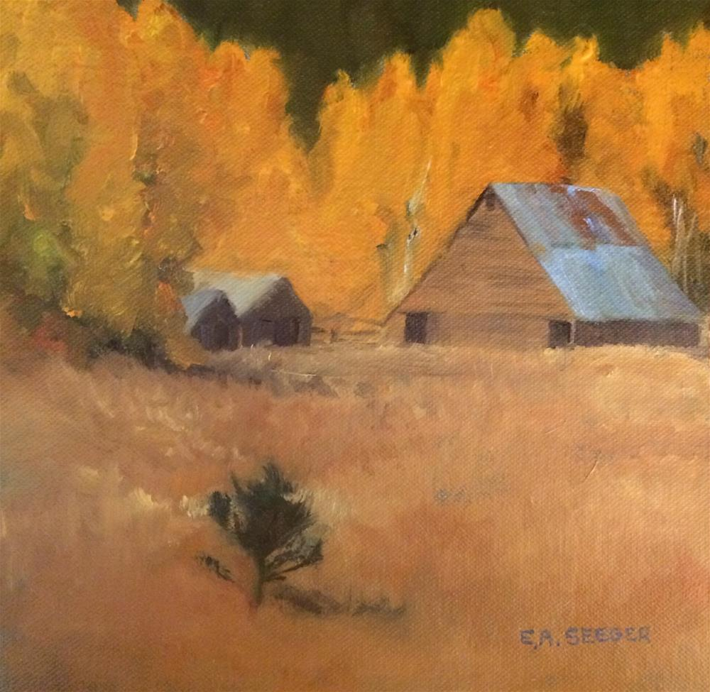 """Fall Barn"" original fine art by Elisabeth Seeger"