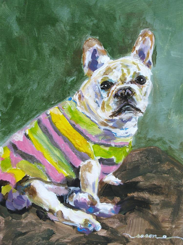 """French Bulldog"" original fine art by Susan Elizabeth Jones"