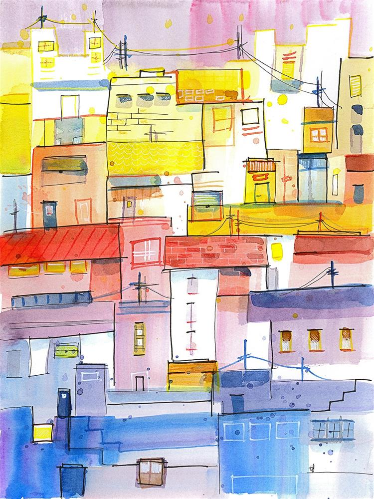 """O Town"" original fine art by Tonya Doughty"