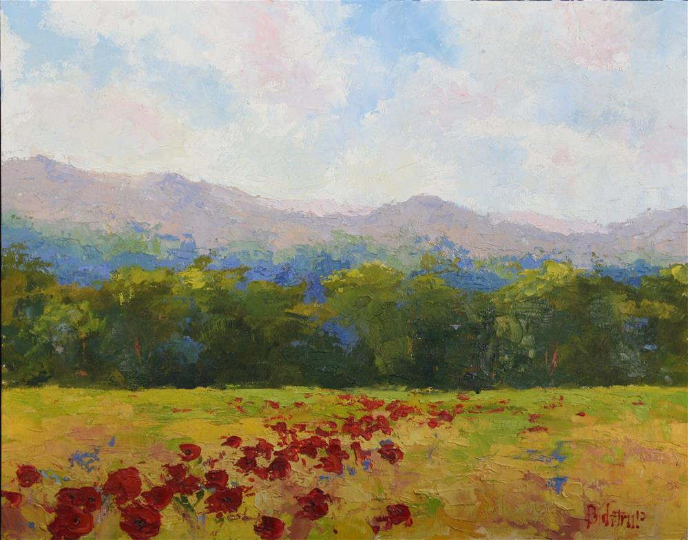 """Scattered Poppies"" original fine art by Mark Bidstrup"