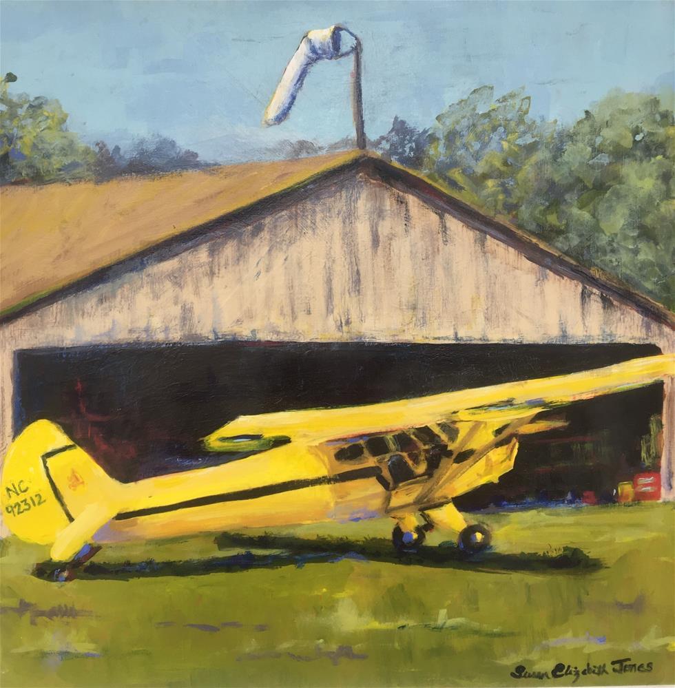 """Tail Dragger"" original fine art by Susan Elizabeth Jones"
