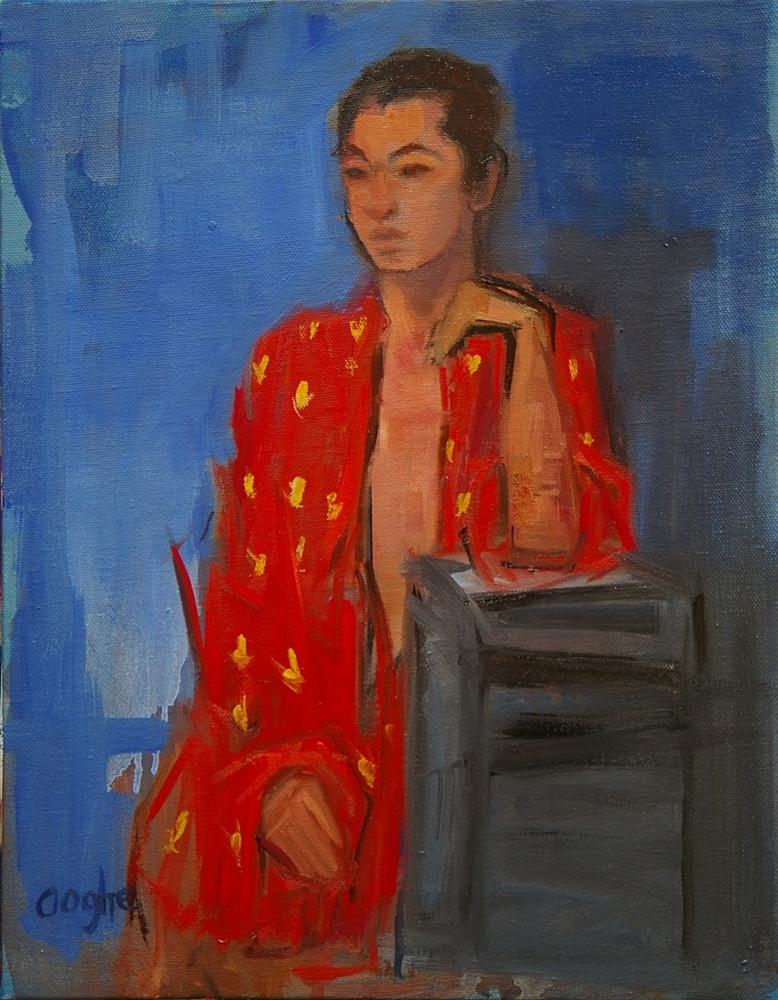 """Red Silk Robe"" original fine art by Angela Ooghe"