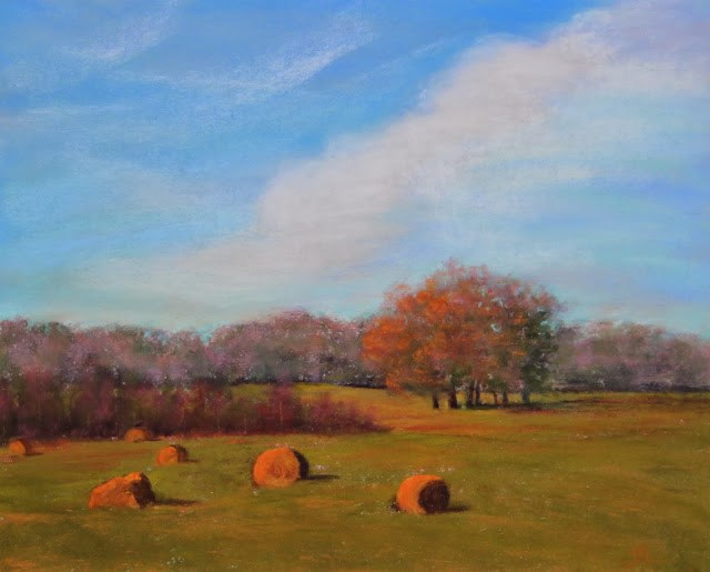 """Harvest Time"" original fine art by Sharon Lewis"