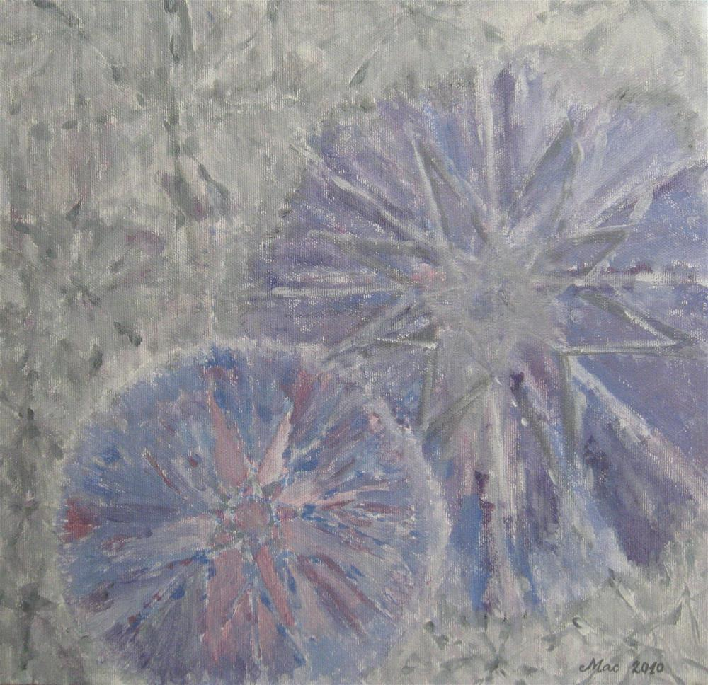 """Snowflakes"" original fine art by Alina Frent"