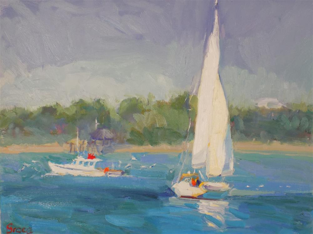 """Heading Out To The Island"" original fine art by Rita Brace"