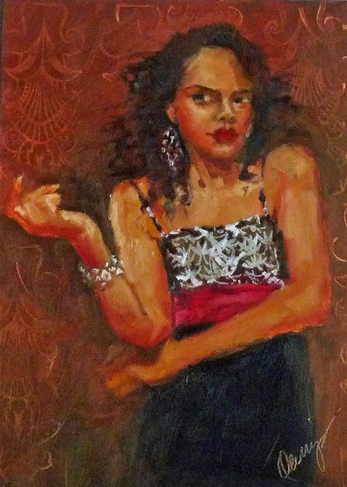 """Like I Was Saying"" original fine art by Sharman Owings"