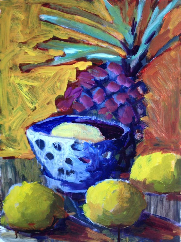 """The Lemons Continue"" original fine art by Pamela Hoffmeister"