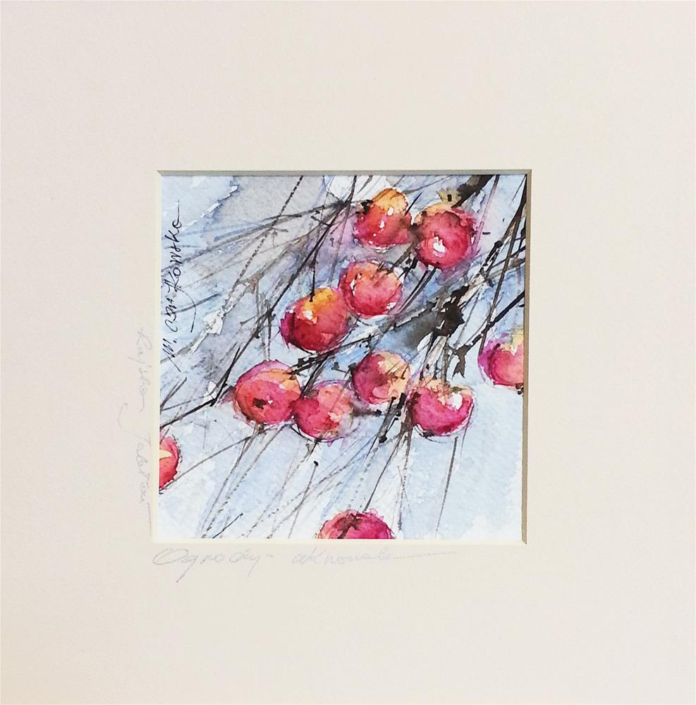 """Paradise apples"" original fine art by Marlena Czajkowska"
