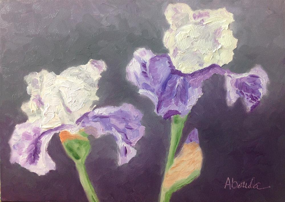 """Two Irises"" original fine art by Sandy Abouda"