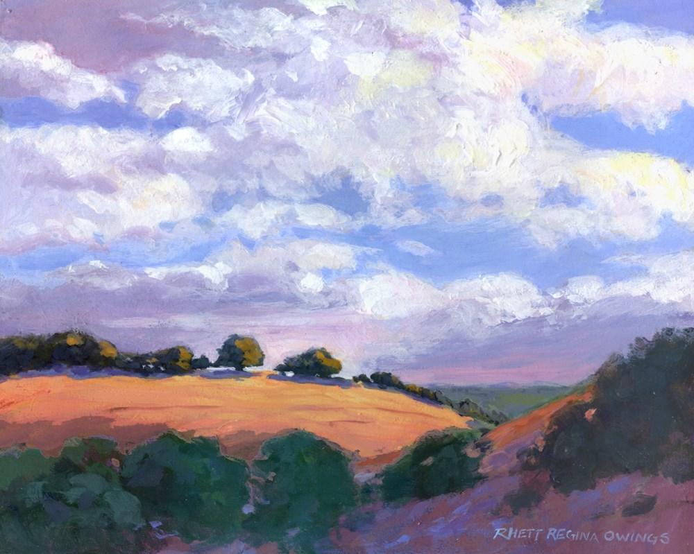 """Foothill Sky"" original fine art by Rhett Regina Owings"