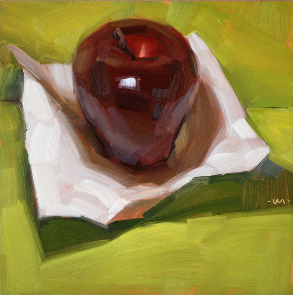 """Appleweight"" original fine art by Carol Marine"