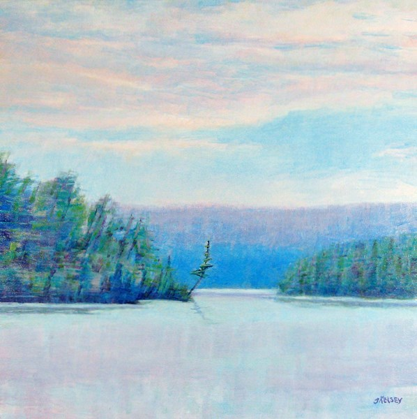 """Maine Lake"" original fine art by J Kelsey"