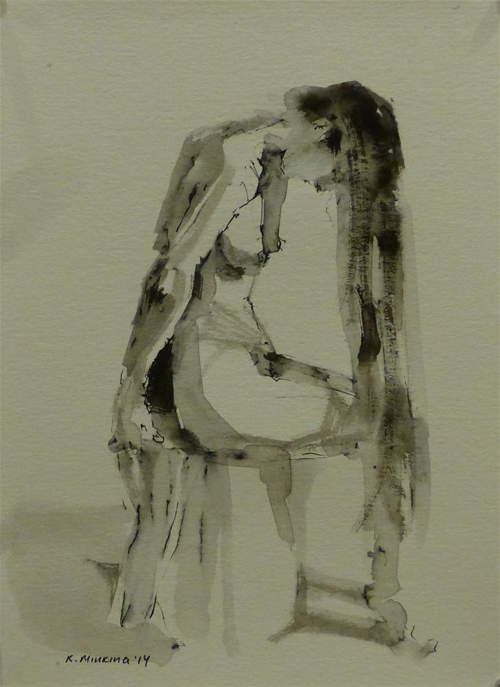 """nude11"" original fine art by Katya Minkina"
