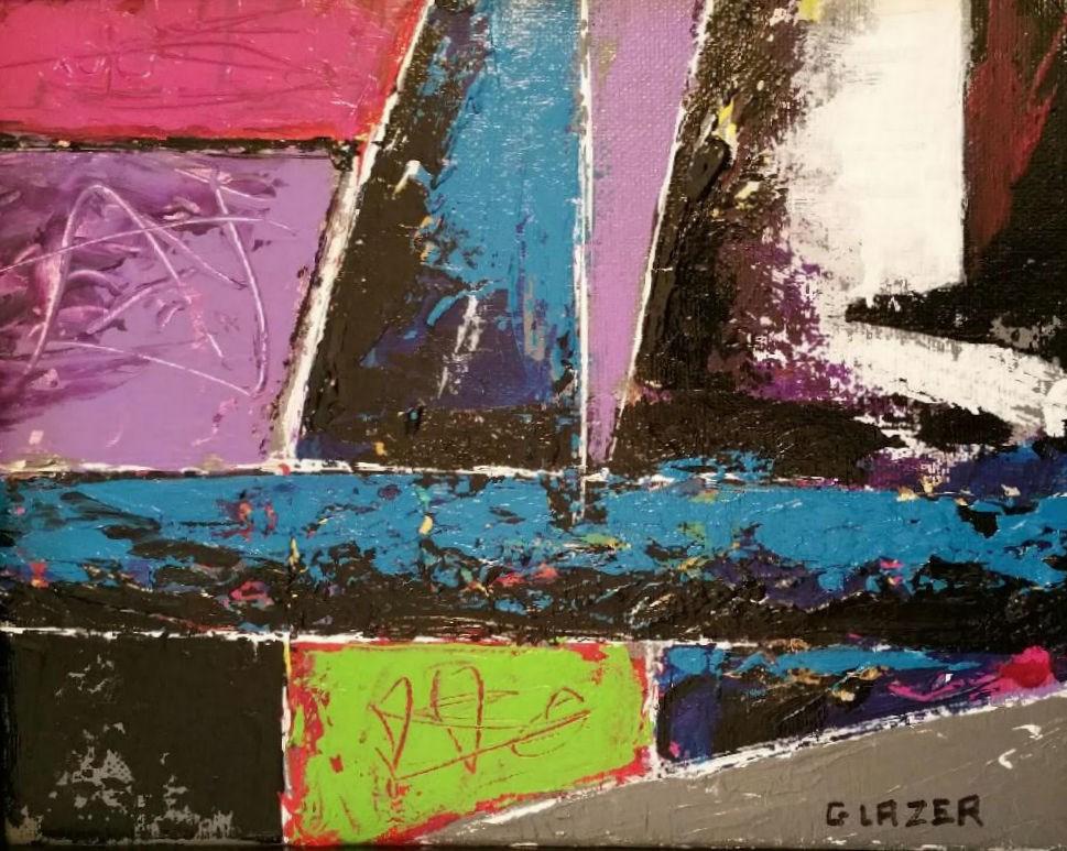 """Patchwork"" original fine art by Stuart Glazer"