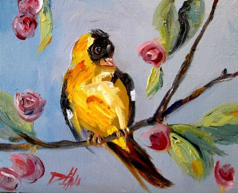 """Goldfinch"" original fine art by Delilah Smith"