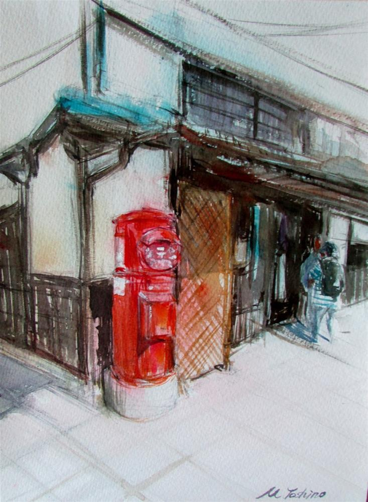 """painting Japan 3"" original fine art by Midori Yoshino"