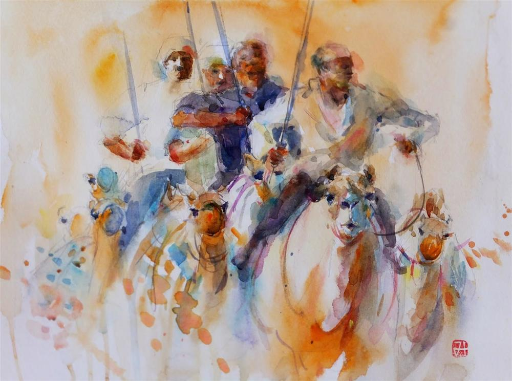 """""""run"""" original fine art by Midori Yoshino"""