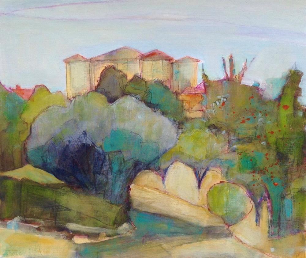 """Rustrel Village View"" original fine art by Patricia MacDonald"