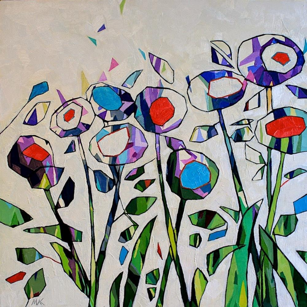 """Reconstructed Flowers"" original fine art by Mary Anne Cary"