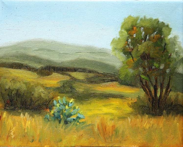 """Hill Country Study 2"" original fine art by Jane Frederick"